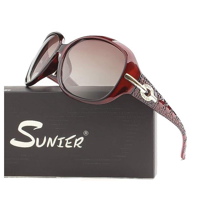 Amazon.com: Gafas de sol polarizadas SUNIER para mujer ...