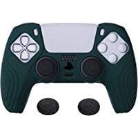 eXtremeRate PlayVital PS5 Controller kılıfı, Case ergonomik koruma kılıfı, saplar kaplaması, 2 adet siyah Thumbstick…