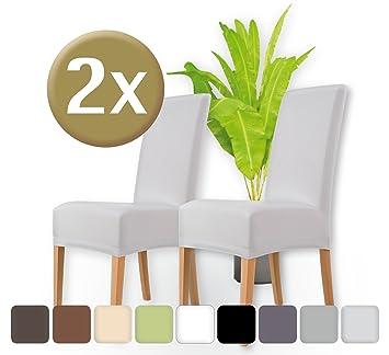Edle Stühle amazon de entspanno luxus stuhlhussen 2er set elastische stretch