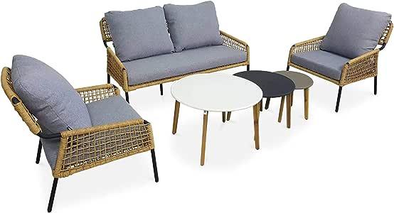 Alices Garden Conjunto de sofá de jardín de 4 plazas Komodo de 2 ...