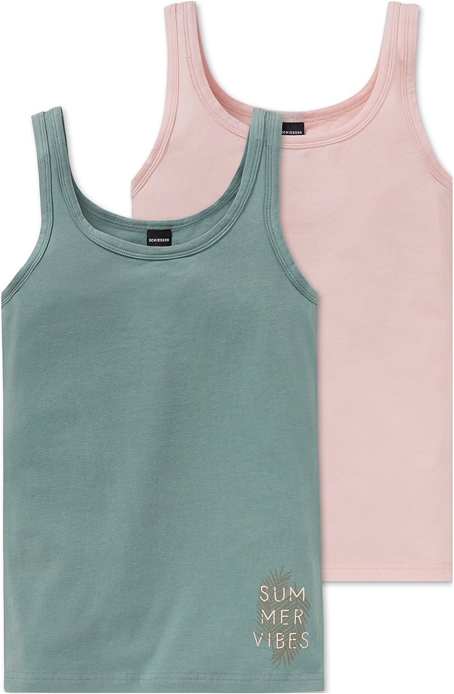 gro/ßes 4 teiliges Unterw/äsche Set Unterhemd und Slip aus der Serie Pink Revolution Schiesser M/ädchen