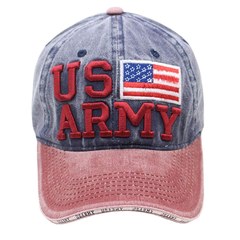 JTRVW Cowboy Hats jacson Mens Quick Dry US Army Retro 2nd Ranger Battalion Classic Adjustable Jeans Caps