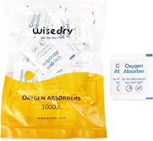 wisedry 1000CC [24 Packs] Food Grade Oxygen Absorbers for Dehydrated, Freeze Dried, and Long Term Food Storage