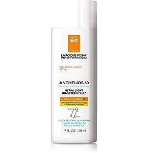 La Roche-Posay Anthelios Ultra Light Sunscreen Fluid Extreme, SPF 60, 1.75 Oz