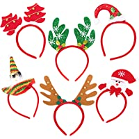 THE TWIDDLERS 18 Pack Inflatable Christmas Balloon Headbands 6 Designs Xmas Decoration Boppers Ideal for Dress-Up Perfect for Xmas Party and Festive Events