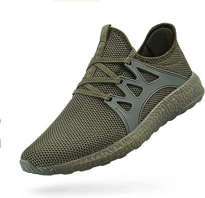 ZOCAVIA Womens Non Slip Light Weight Running Shoes Green Size: 5.5