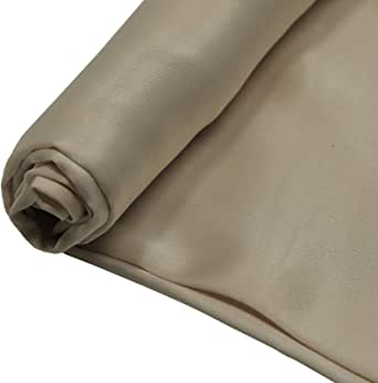 Silk Stan Fabric, 44 Inch x 25 Yard, Beige
