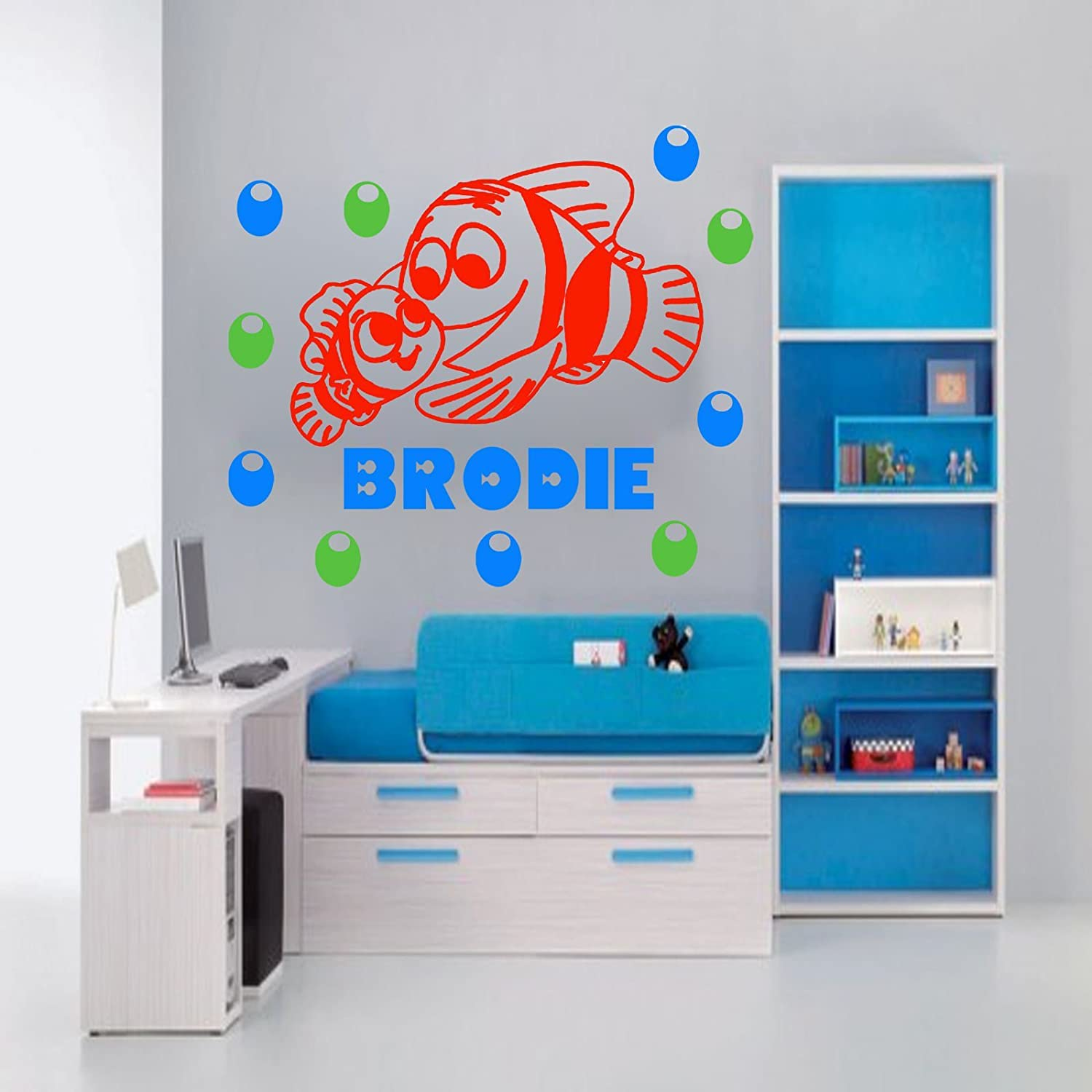 Finding Nemo Wall Sticker Personalized Name Decal Fish Aquarium Wall