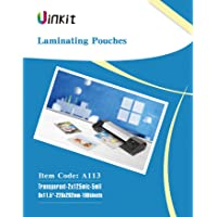 """Hot Thermal Laminating Pouches 5Mil - 9x11.5 Inches for Sealed 8.5x11"""" Photo - 100 Sheets 9x11.5 inches Pack, Uinkit 24…"""
