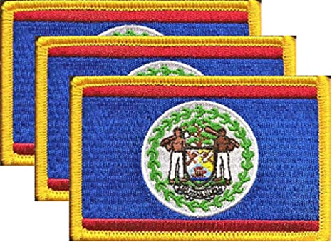 Belize Iron-on Embroidered Patch