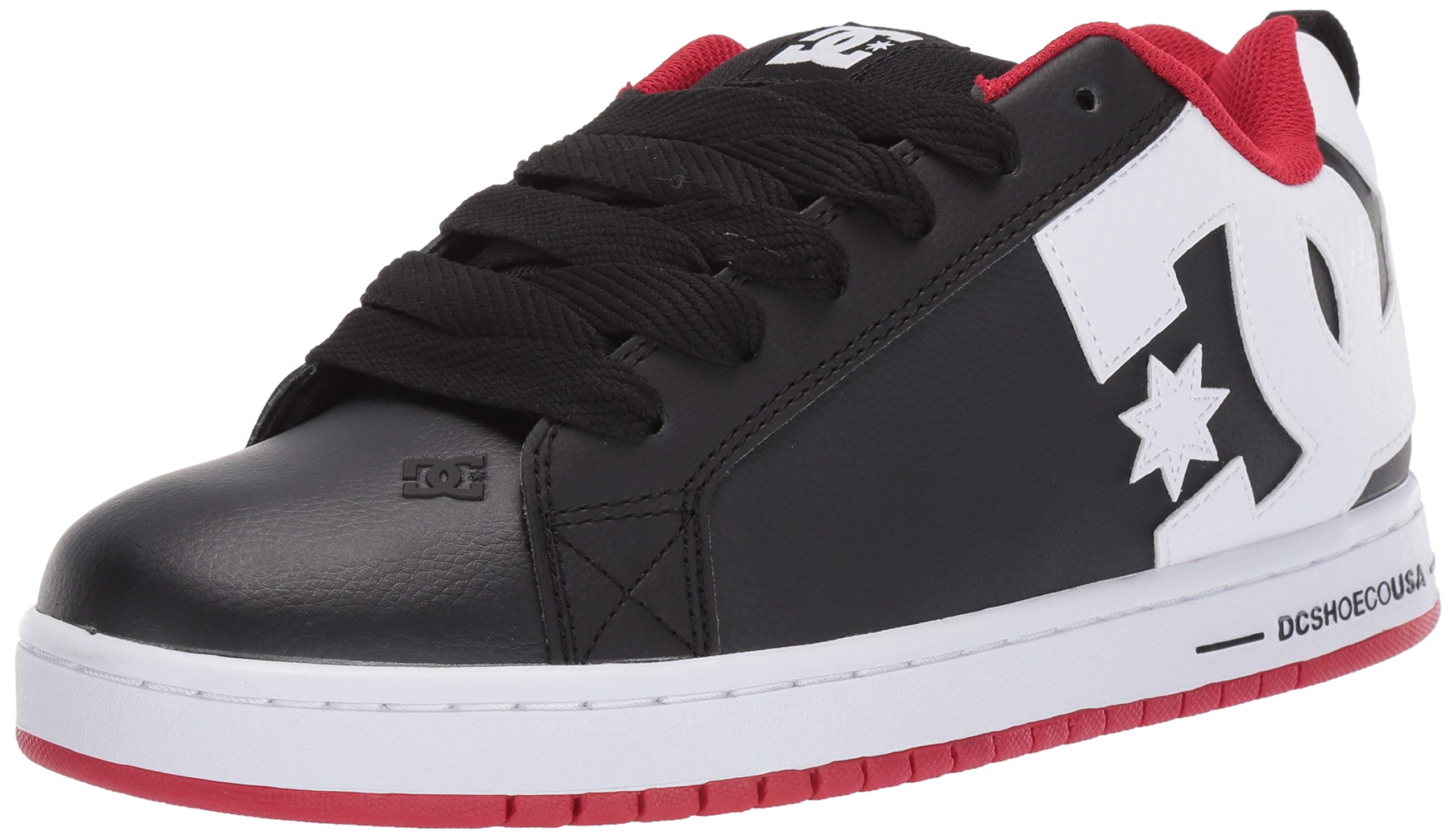 DC Men's Court Graffik Skate Shoe, red/Black/White, 16 M US by DC