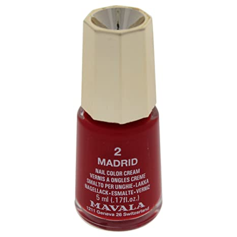 Mavala Mini Colors Esmalte De Uñas Múltiples Colores Sin Ingredientes Animales Ni Perfumes Añadidos Color Madrid 02 Rojo 5 Ml