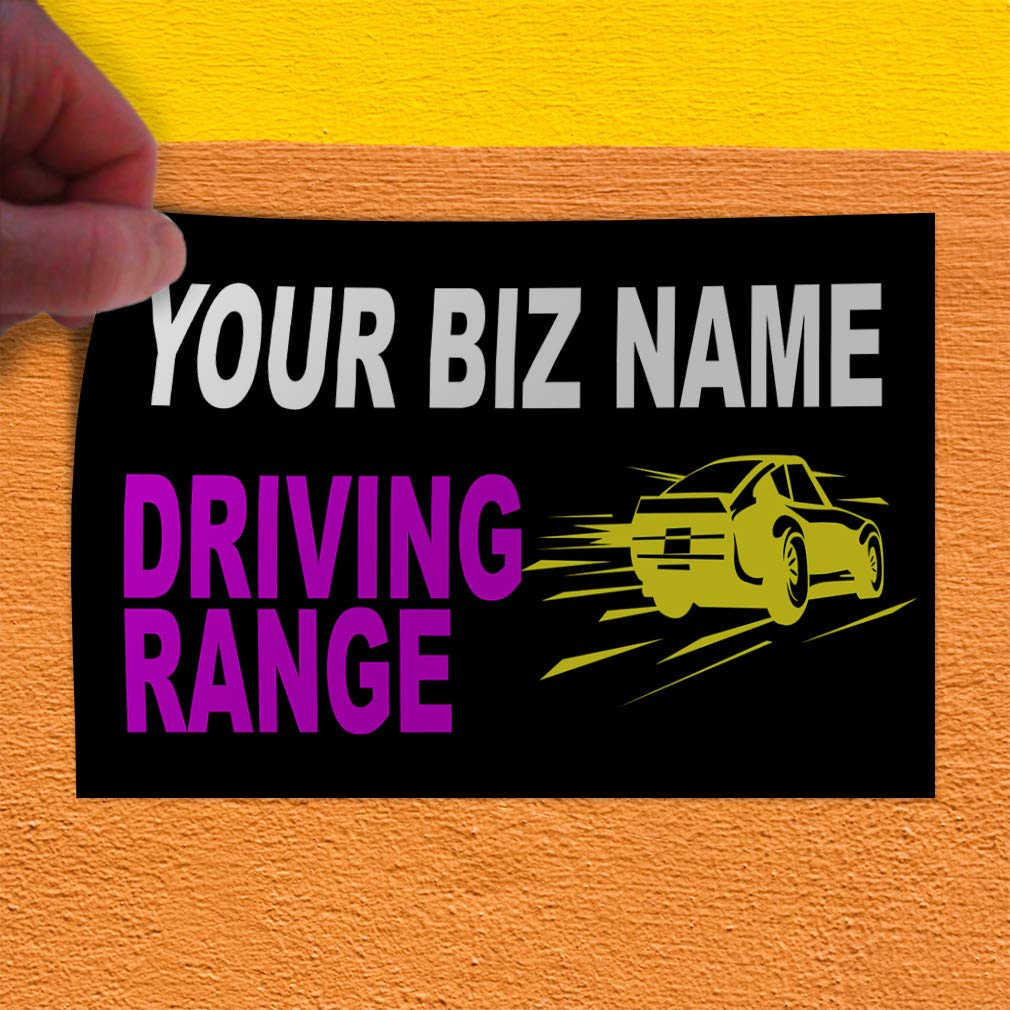 Custom Door Decals Vinyl Stickers Multiple Sizes Business Name Driving Range Business Driving Range Outdoor Luggage /& Bumper Stickers for Cars Black 45X30Inches Set of 5