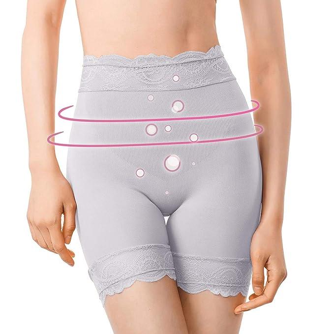 1038024f4e75 MD Women's Shapewear Inner Thigh Shaper Waist High Waist Slimmer Small  Light Grey