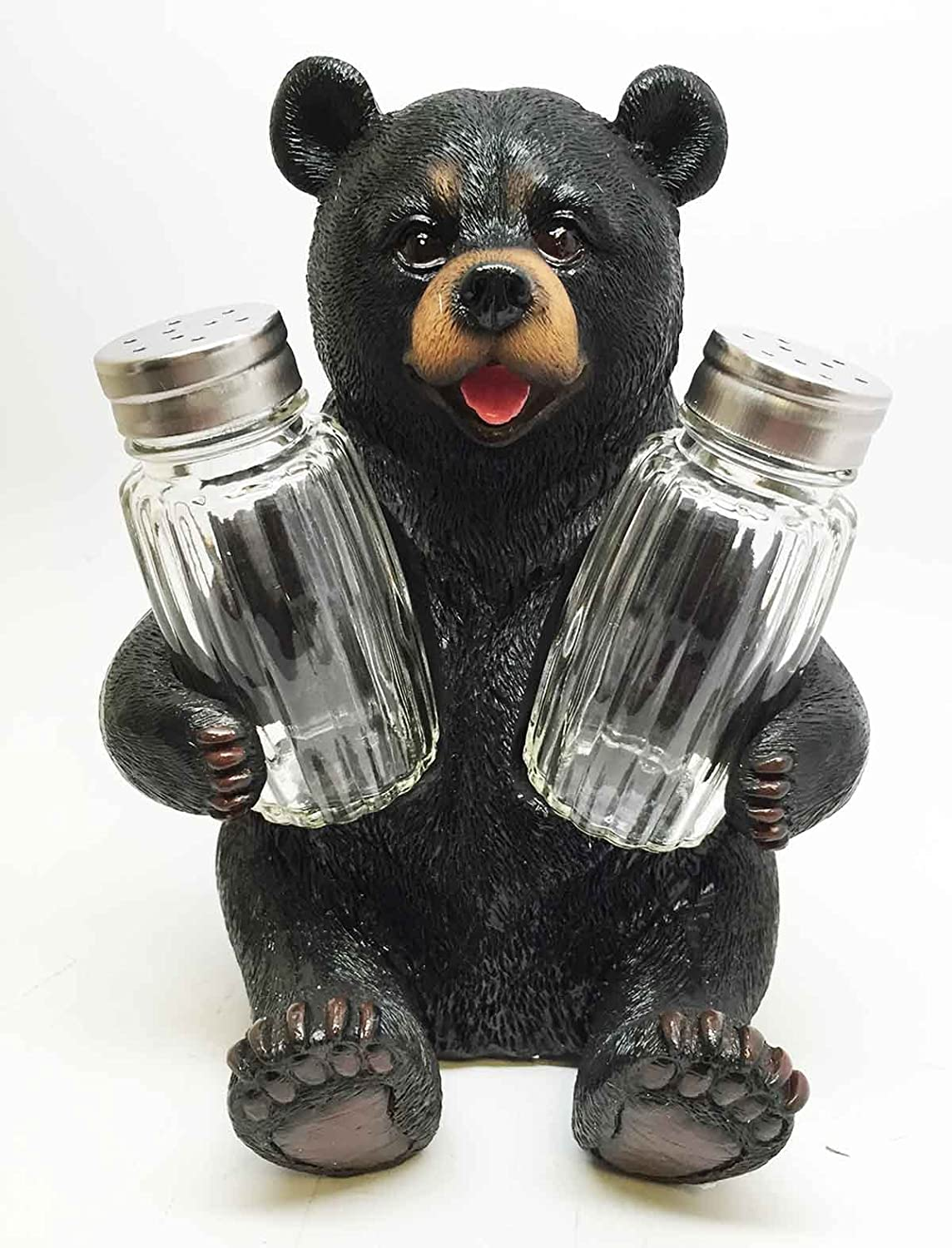 Amazon.com: Cute Black Bear Hugging Salt Pepper Shakers ...