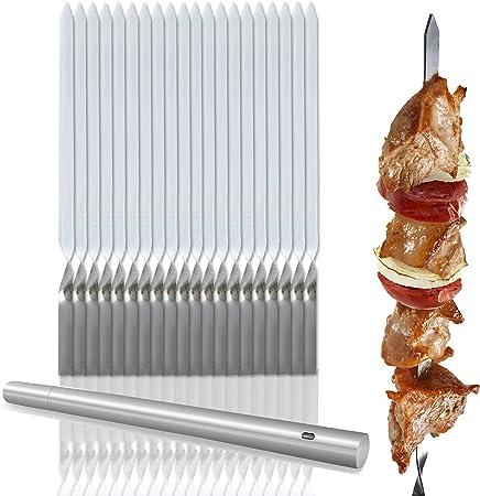 Compra Bramble 20 Pinchos, brochetas de Kebab de Acero Inoxidable ...