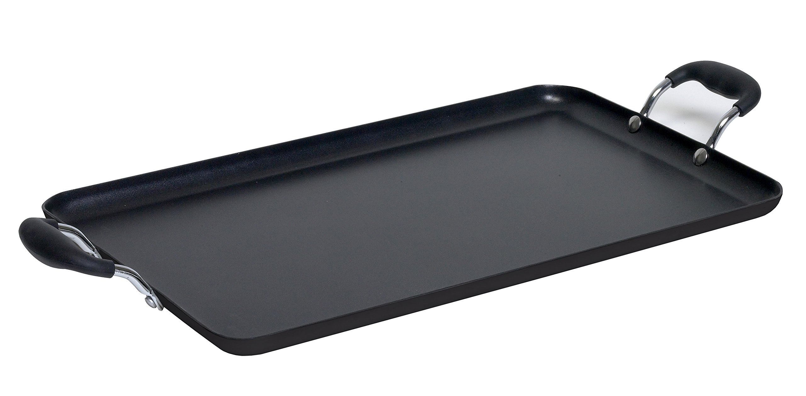 IMUSA USA IMU-1818 Soft Touch Double Burner/Griddle, Black
