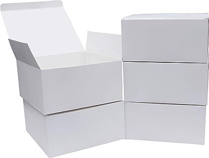 Cajas Cartón kraft (Pack de 10) - Cajas Regalo Cartón Blancas (20 ...
