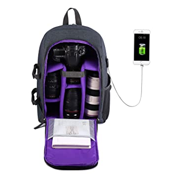 Selighting Mochila Fotográfica Multifunción y Impermeable para Cámaras Réflex Digital SLR Lentes Trípode Flash Laptop Portátil Canon Nikon Sony Drone ...