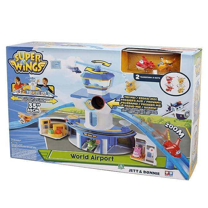 Super Wings 70710831 Aéroport Jouet Amazon Fr Jeux Et Jouets