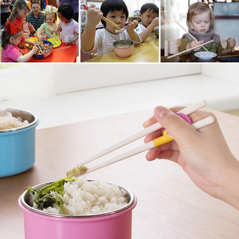 Children Kids Baby Beginner Chopsticks Safety Training Helper Easy Use Boys Girls Tableware Practical Household Supplies
