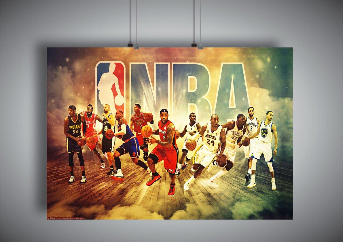 Amazon.com: Poster NBA stars Legend Team: Posters & Prints