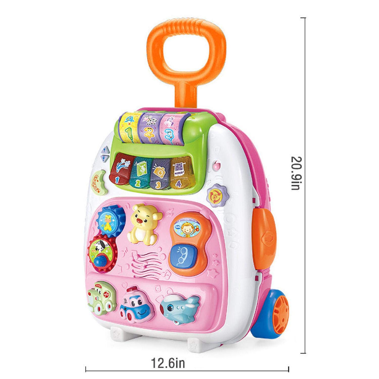 Educational Toy Toddler Trolley Luggage Backpack Playset Kids Multi-Functional Bag Music Toys for Children