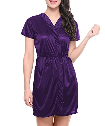 030450f34e Fashigo Women s Satin Nightwear(Purple