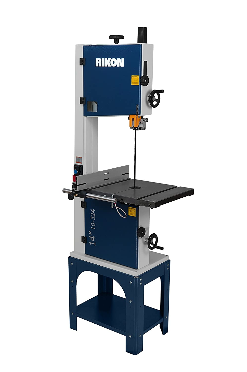 "2. Rikon Power Tools 10-324 14"" Open Stand Bandsaw"