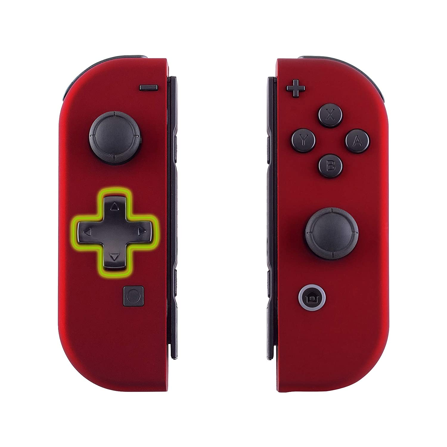 eXtremeRate Soft Touch Red Joycon Handheld Controller Housing (D-Pad Version) with Full Set Buttons, DIY Replacement Shell Case for Nintendo Switch ...