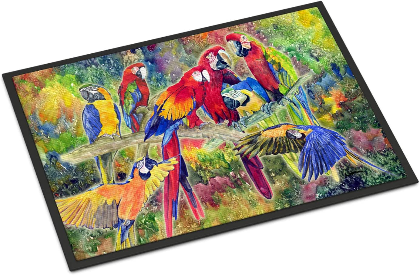 Caroline s Treasures 8600JMAT Parrot Indoor or Outdoor Mat 24×36 Doormat, 24H X 36W, Multicolor