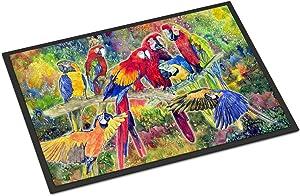 "Caroline's Treasures Parrot Indoor or Outdoor Doormat, 24"" x 36"", Multicolor"