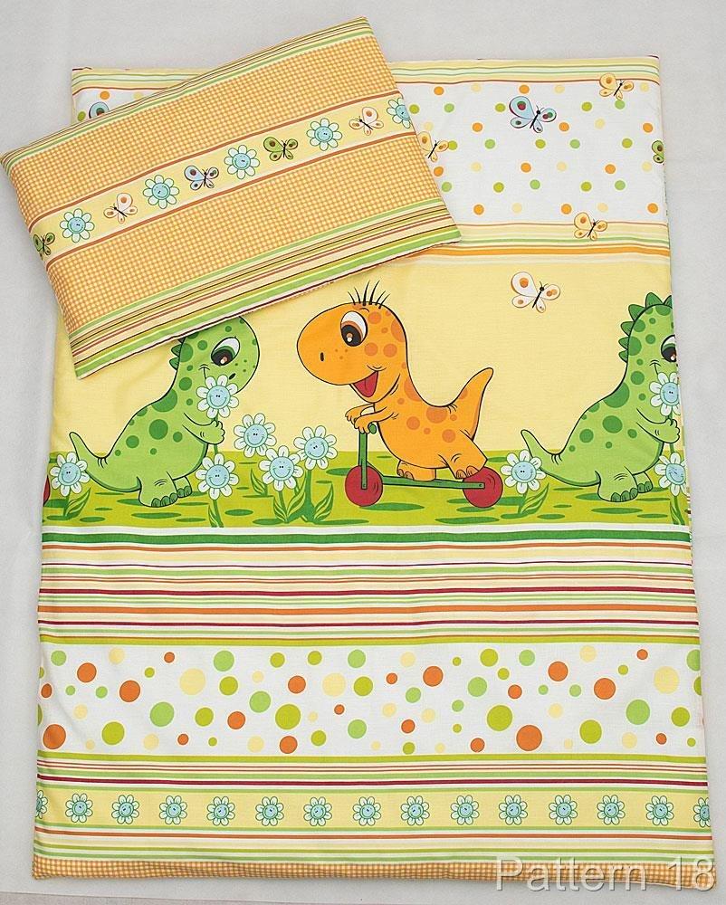 2 Pcs Cot Bed Bedding Set - 135x100cm Duvet Cover & Pillowcase - Plain Blue BabyComfort