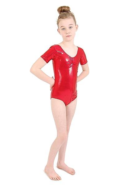 e0d09b583 Dance Gear Emily Children s Metallic Short Sleeved Leotard  Amazon ...