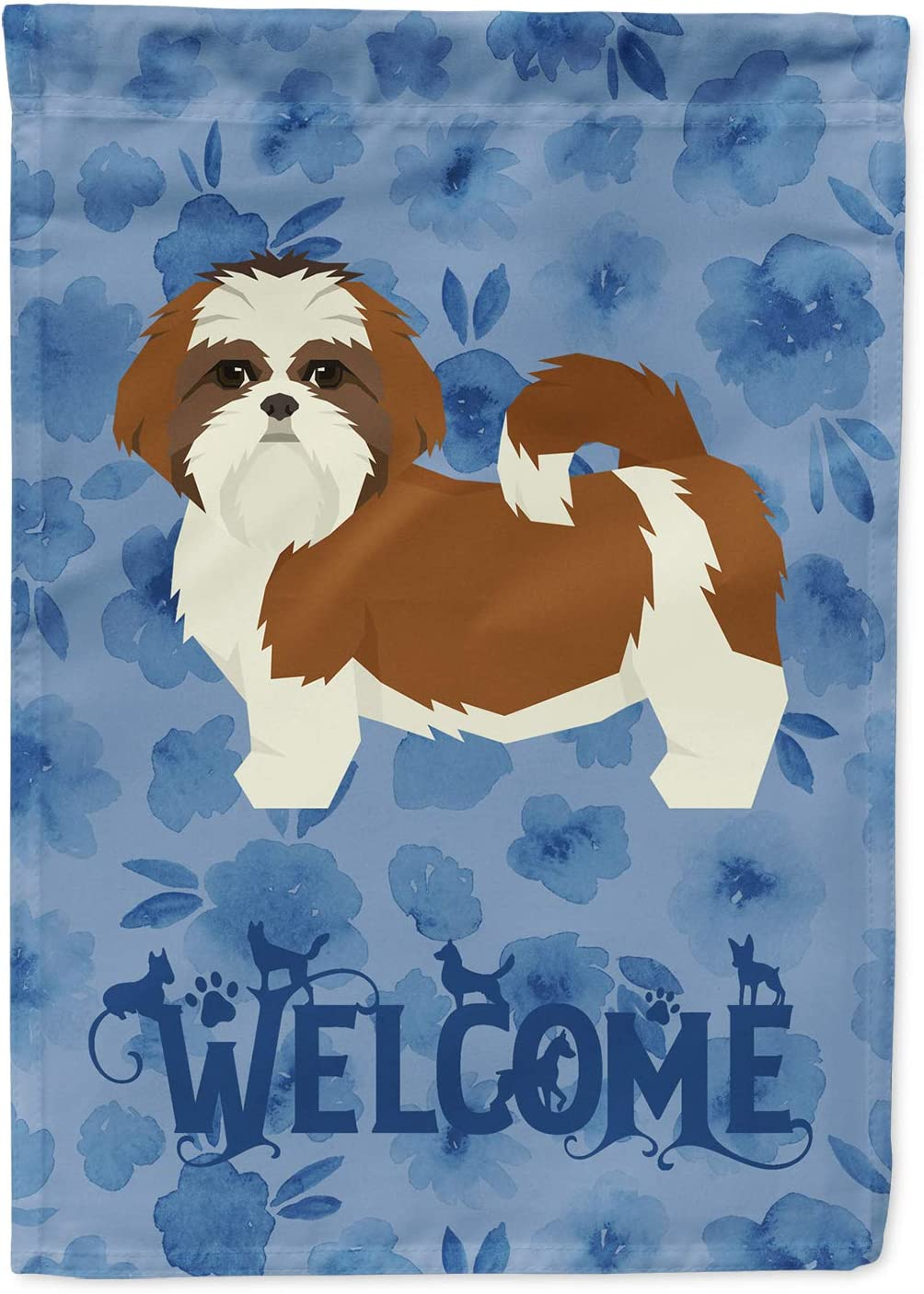 Caroline's Treasures CK6267GF Shih Tzu Welcome Flag Garden Size, Small, Multicolor