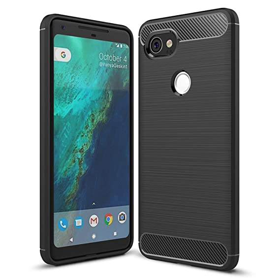 pretty nice 5caff f274f Taorey Case For Google Pixel XL 2 Case, Carbon Fiber Case with Resilien  Shock Absorption and Luxury Slim for Google Pixel XL 2 (2017) - Black
