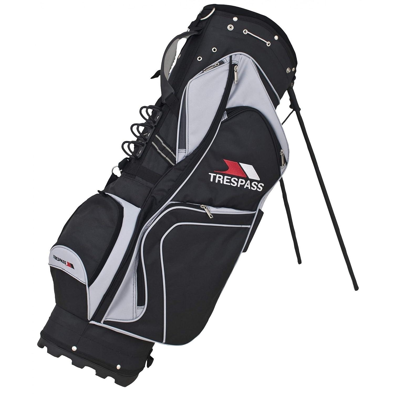 トレスパストレーラー軽量ゴルフスタンドバッグ B01AYEOAC0 ブラック One Size