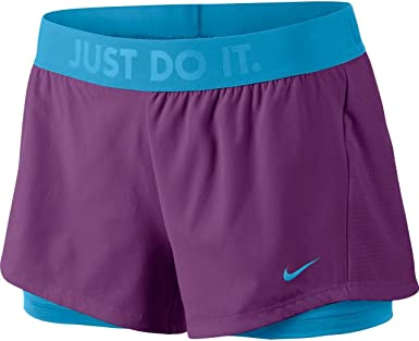 Nike Circuit 2 In 1 Woven Shorts Women Black, Pink