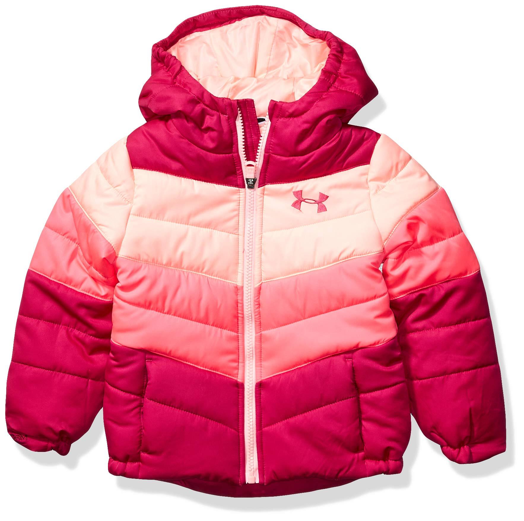 Under Armour Girls' Big ColdGear Prime Puffer Jacket, Rhubarb F, YMD by Under Armour
