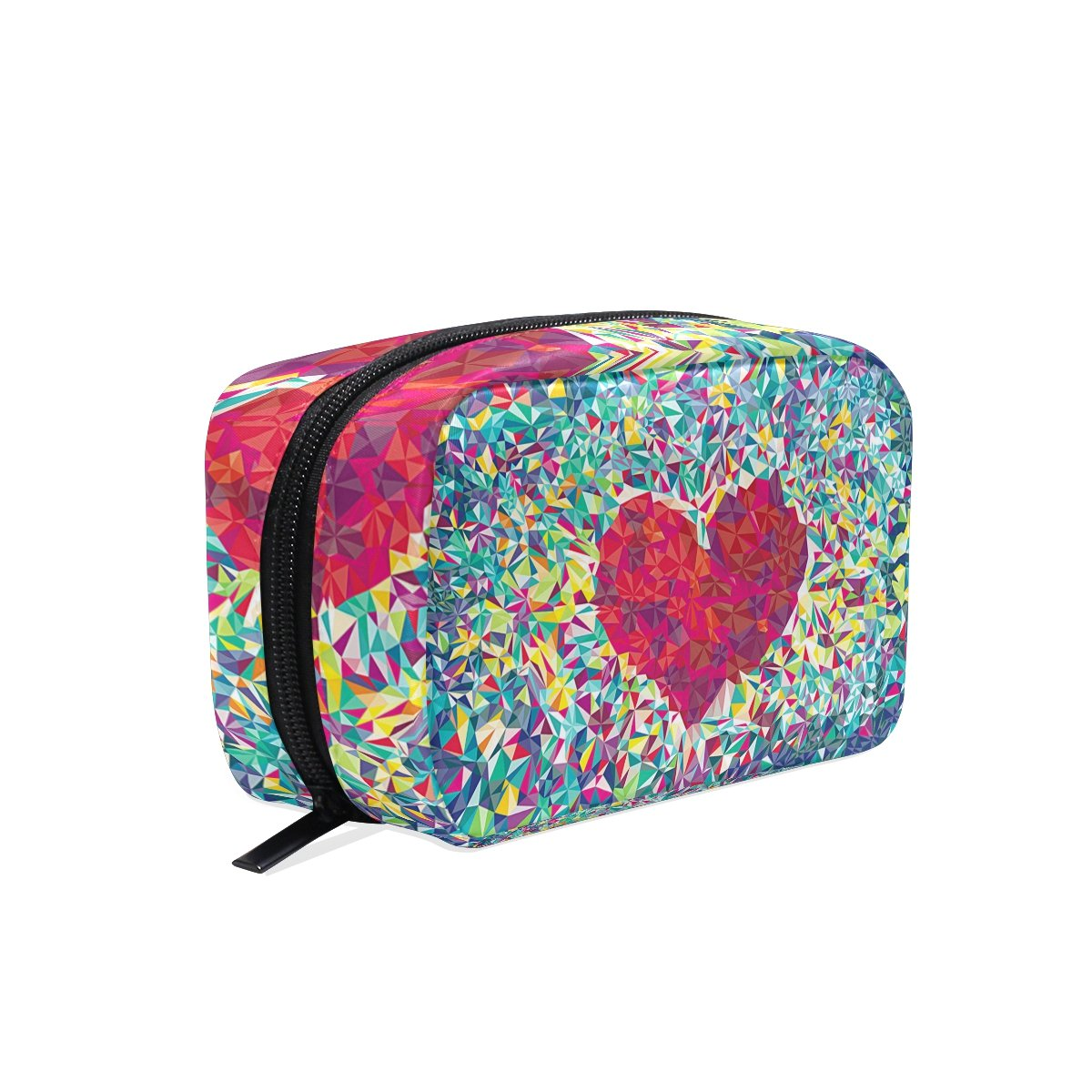 Amazon.com : LORVIES Red Heart Shape Cosmetic Pouch Clutch Makeup Bag Travel Organizer Case Toiletry Pouch for Women : Beauty
