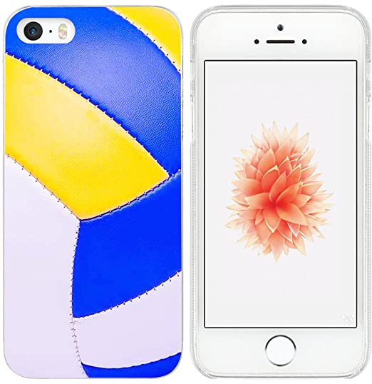 low priced 68e0a cf477 5S Case/Case for iPhone SE Volleyball Design/IWONE Designer Non Slip Rubber  Durable Protective Skin Transparent Cover Shockproof Compatible for iPhone  ...
