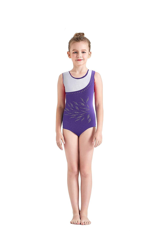 82b321bce Kql Girls Gymnastics Kids Lace Rinestone Ballet Dancewear Leotards 5 ...