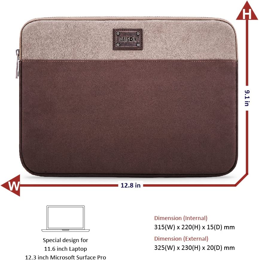 DELL Inspiron 13//14 ASUS VivoBook 14 CAISON Laptop Case Sleeve Cover Bag Briefcase for 13.5 Microsoft Surface Book 2//14 Lenovo IdeaPad 330s S340 ThinkPad T490s 13.9 Yoga 940