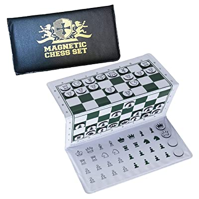 WE Games Travel Mini Magnetic Pocket Chess Set - 6 x 3.25 in.: Toys & Games