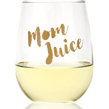 Amazon.com   Funny Mom Juice Wine Glass - Fun Gift for Wine Lovers - Mother, Sister, Friend ...