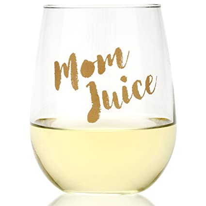 Amazon.com | Funny Mom Juice Wine Glass - Fun Gift for Wine Lovers ...