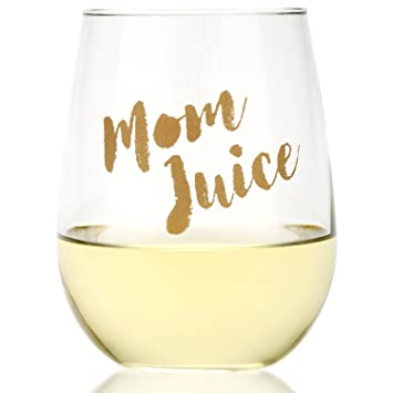 Amazoncom Funny Mom Juice Wine Glass Fun Gift For Wine Lovers