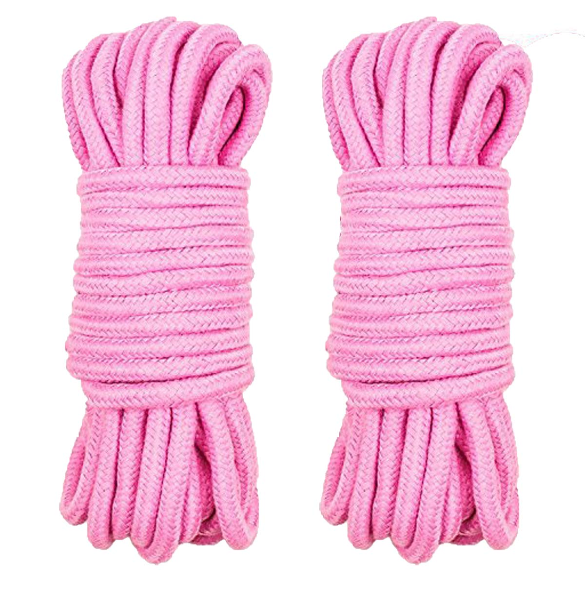 Soft and Sturdy Pink Pink All-Purpose Color Cotton Twisted Rope LIMTED TIME Offer Knot Tying Rope 32 Feet Length,1//3-Inch Diameter