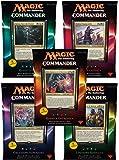 Magic the Gathering Commander (2016) Decks Display (5) italian Wizards Coast Trading cards