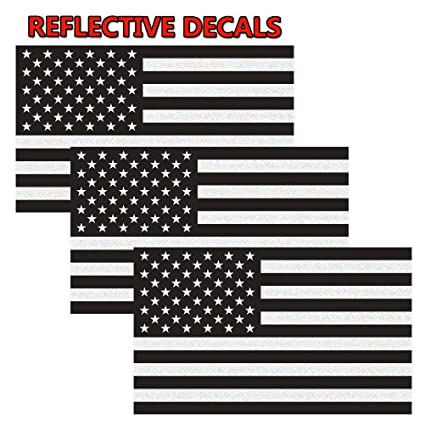 Reflective subdued american flag sticker 3 x 5 tactical military flag usa decal great